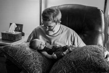 My Uncle Tom meets Micah for the first time. I love how this picture is so similar to the one of him holding me.